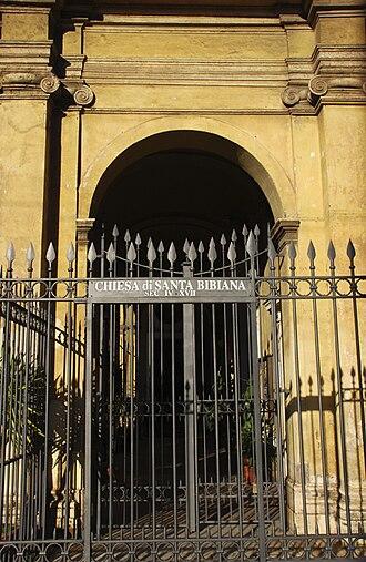 Santa Bibiana - Image: Chiesa di Santa Bibiana (Rome) Facade Gate
