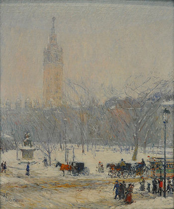 Childe Hassam Snowstorm Madison Square.jpg