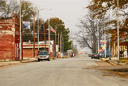 Skyline of Luxora, Arkansas