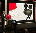 Chris Pine, actor, and Academy President Cheryl Boone Isaacs at the 87th Oscars Nominations Announcement.jpg