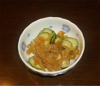 Jellyfish as food - Image: Chuka kurage(jellyfish) 2014