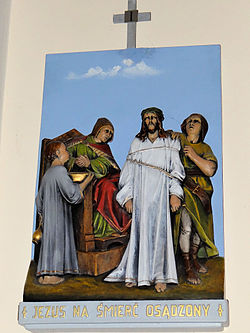 Church of the Assumption of Mary in Kock - Stations of the Cross - 01.jpg
