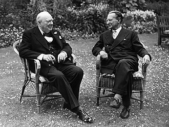 Alcide De Gasperi - De Gasperi with UK Prime Minister Winston Churchill
