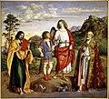 Cima da Conegliano, L'arcangelo Raffaele e Tobiolo tra i santi Giacomo e Nicolò, 162x178 cm Venezia, Gallerie dell'Accademia.jpeg