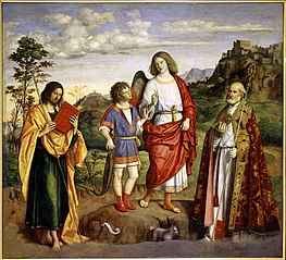 The Archangel Raphael and Tobias with Two Saints
