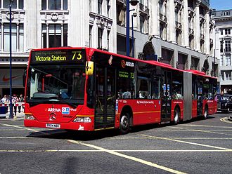 Articulated buses in the United Kingdom - Mercedes-Benz O530 Citaro G in London