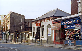 Clapton railway station - Station entrance in 1984