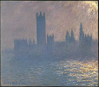 Claude Monet - Houses of Parliament, Sunlight Effect (Le Parlement, effet de soleil) - Google Art Project.jpg