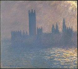 Claude Monet: Houses of Parliament, Sunlight Effect (Le Parlement, effet de soleil)
