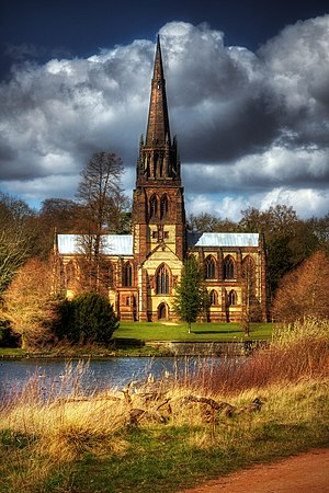 Clumber Park - The Gothic revival chapel at Clumber