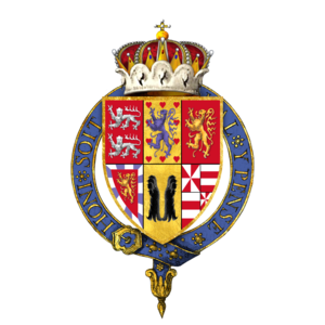 Christian the Younger of Brunswick - Gartered arms of Christian, Duke of Brunswick-Lüneburg and Bishop of Halberstadt