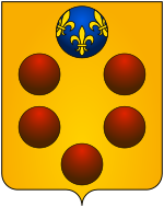 Coat of arms of the House of Medici.svg
