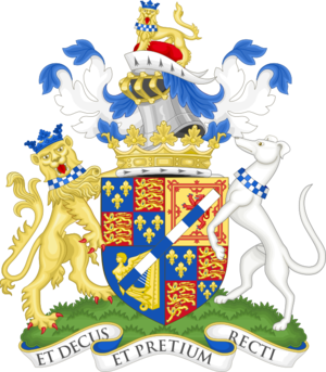 Henry FitzRoy, 12th Duke of Grafton - Image: Coat of arms of the duke of Grafton