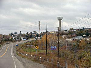 Ontario Highway 11 - Former Highway 11B entering Cobalt