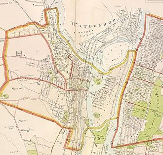 Cohoes, New York - Map of Cohoes in 1891