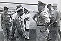 Collectie NMvWereldculturen, TM-60042264, Foto- Brigadier-Generaal Bodet (chef van de Franse Luchtstrijdkrachten in het Verre Oosten) arriveert voor een bezoek op Kemajoran, Batavia, 1945-1950.jpg
