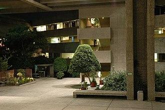 El Colegio de México - the college at night