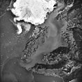 Columbia Glacier, Calving Terminus, Heather Island, August 22, 1987 (GLACIERS 1406).jpg
