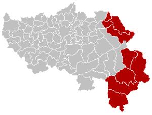 Judicial Arrondissement of Eupen - Location of the judicial arrondissement in Liège