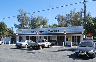 Conargo Town in New South Wales, Australia