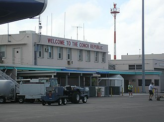"Micronation - ""Welcome to the Conch Republic"" – a sign at Key West International Airport."