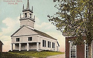 Oxford, Maine - Congregational Church, c. 1909
