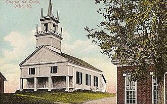 Oxford, Maine - Congregational Church, c. 1909
