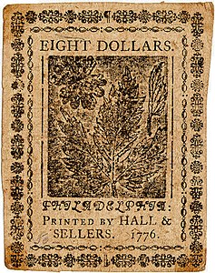 Continental Currency $8 banknote reverse (May 9, 1776).jpg
