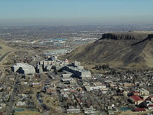 Coors Brewery and Golden, Colorado, with Denve...