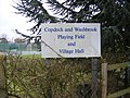 Copdock and Washbrook Playing Field and Village Hall Sign - geograph.org.uk - 1175730.jpg