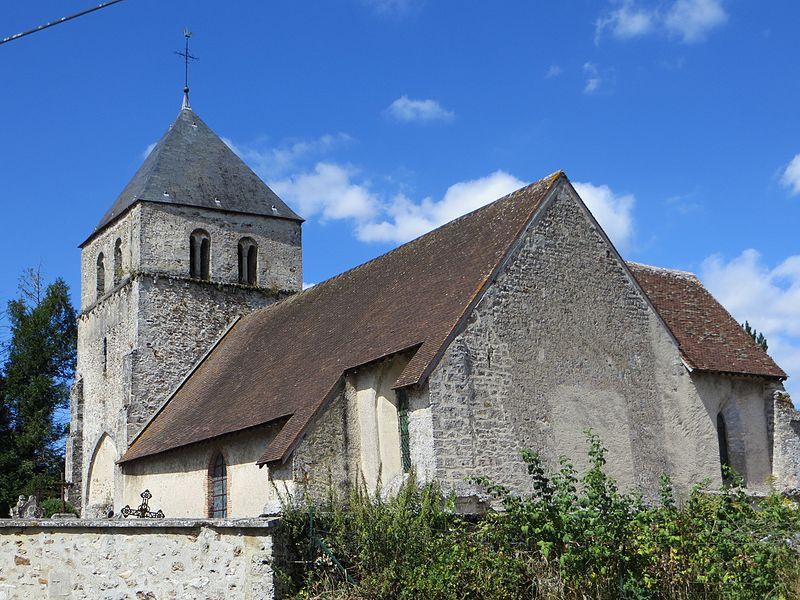 Vue générale de l'église, vue du chevet