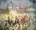 "Coronation of Emperor Dušan, in ""The Slavonic Epic"" (1926).jpg"