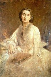 Cosima Wagner, 1879 von Lenbach porträtiert (Quelle: Wikimedia)