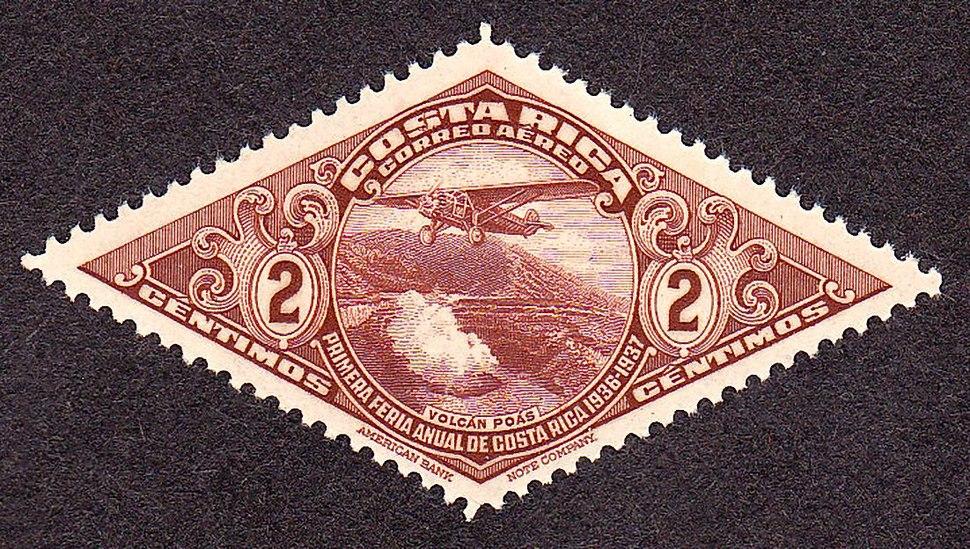 Costa Rica Diamond stamp2 1937-2c