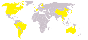 English: Countries that have reported swine fl...
