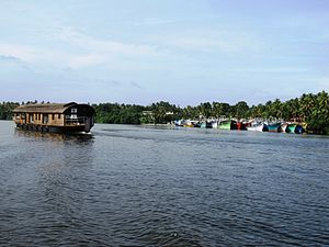 Houseboat - A houseboat on Ashtamudi Lake in Kollam, India