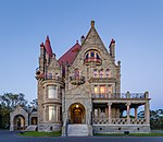 Craigdarroch Castle just after sunset - view from the west, Victoria, Canada.jpg