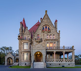 Craigdarroch Castle - Image: Craigdarroch Castle just after sunset view from the west, Victoria, Canada