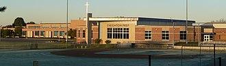 Creighton Preparatory School - Image: Creighton Prep (Omaha) from W 1