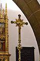 Creu processional a l'església del Sagrat Cor del palau ducal de Gandia.JPG