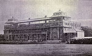 Alfred Karney Young - The pavilion at Lord's, finished  a few months before Young's only first-class match, Kent vs. MCC in May 1890