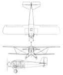 Cunningham-Hall PT-6 3-view Aero Digest May 1929.png