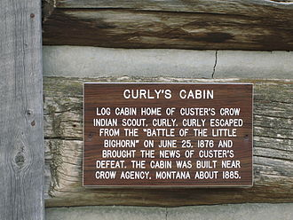 Old Trail Town - 250pxSite of log cabin of Custer's Crow scout Curly in Cody, Wyoming
