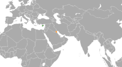 Map indicating locations of Cyprus and Kuwait