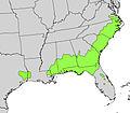 Cyrilla racemiflora range map.jpg