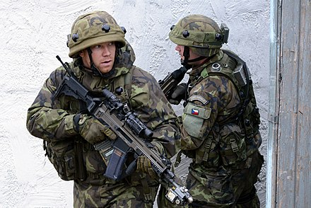 Czech Army soldiers during an exercise Czech soldiers participate in exercise Combined Resolve at the Joint Multinational Readiness Center in Hohenfels, Germany, Nov. 15, 2013 131115-A-HE359-010.jpg