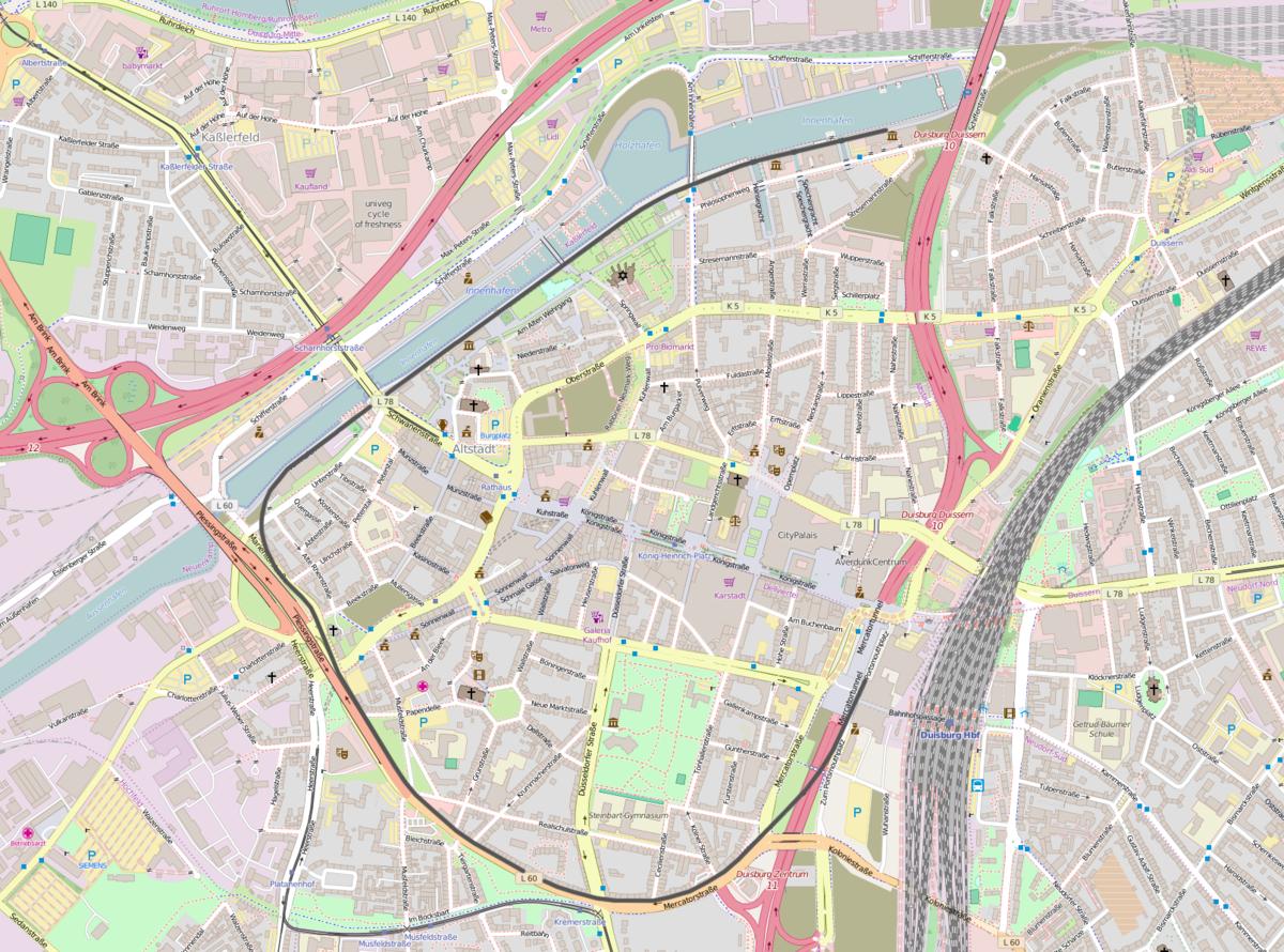 Spoorlijn Duisburg Hauptbahnhof Duisburg Innenhafen Sd Wikipedia