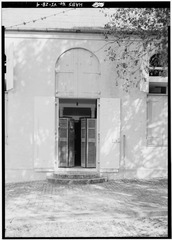 DETAIL OF DOORWAY IN SOUTHEAST WALL - Moravian Church, King Street vicinity, Christiansted, St. Croix, VI HABS VI,1-CHRIS,52-4.tif