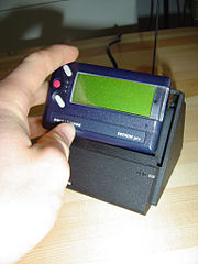 A pager that is in use for emergency services