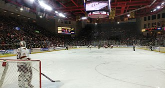 Denver Pioneers men's ice hockey - Game between the Denver Pioneers and Colorado College Tigers (Magness Arena - December 2016)